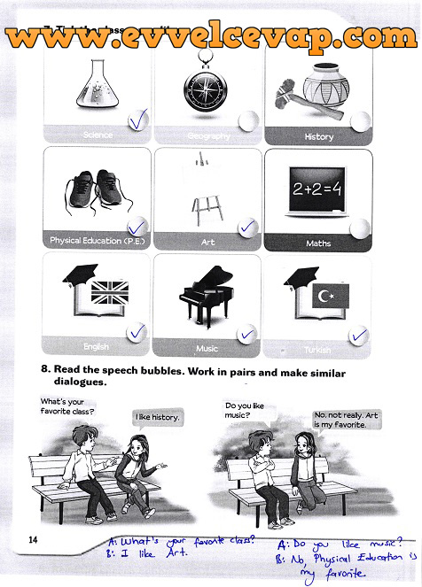 5 Sınıf Ingilizce Meb Yayınları Ders Kitabı Cevapları Sayfa 14