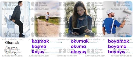 8. Sınıf MEB Yayınları Benlik Üzerine Metni Etkinlik Cevapları - İş ve Hareket İsimleri