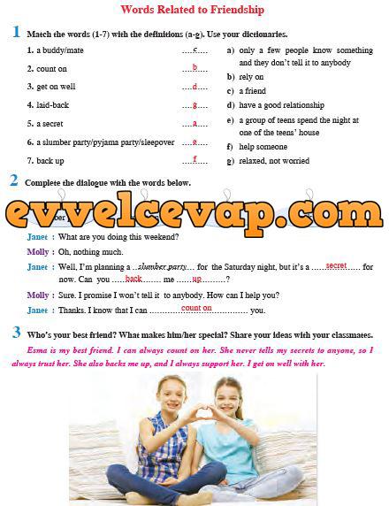 Ders Ve çalışma Kitapları Cevapları Sayfa 2 Ders Kitabı