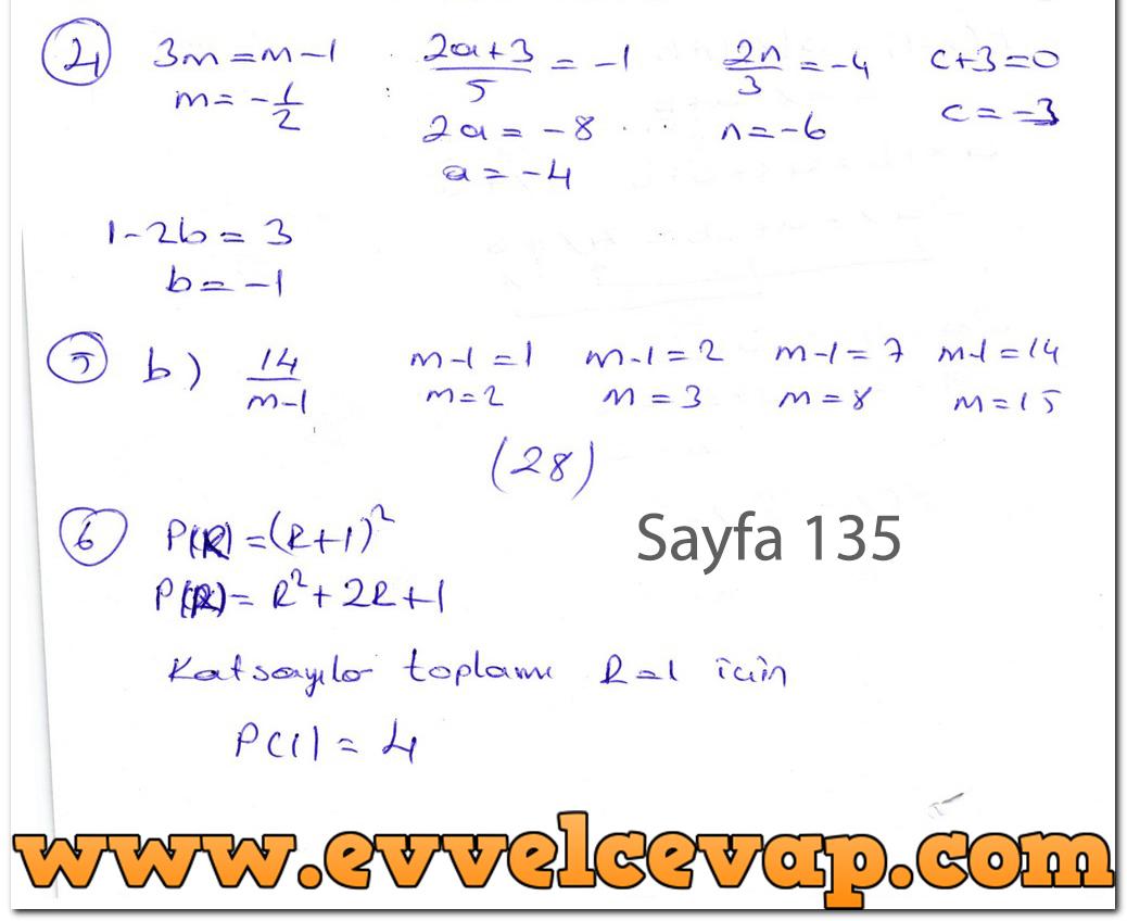 Ders Ve çalışma Kitapları Cevapları Sayfa 721 Ders Kitabı