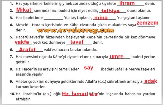 7 Sınıf Din Kültürü Meb Yayınları Ders Kitabı Cevapları Sayfa 68