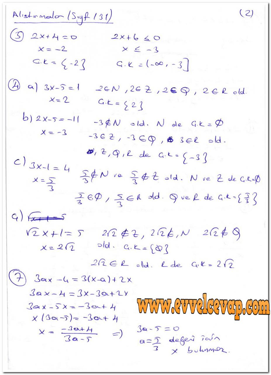 Ders Ve çalışma Kitapları Cevapları Sayfa 700 Ders Kitabı