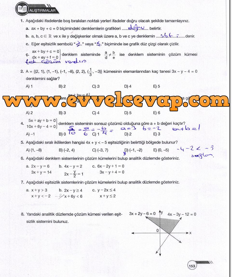 Ders Ve çalışma Kitapları Cevapları Sayfa 807 Ders Kitabı