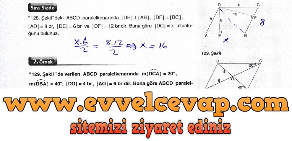 10. Sınıf Aydın Yayıncılık Matematik Ders Kitabı Sayfa 236 Cevabı