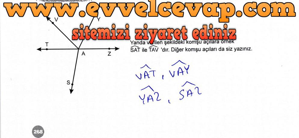 6. Sınıf Matematik Ders Kitabı Meb Yayınları Sayfa 268 Cevabı 2018-2019