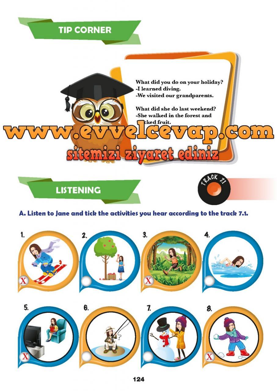 6 Sınıf Ingilizce Meb Yayınları Ders Kitabı Cevapları Sayfa 124