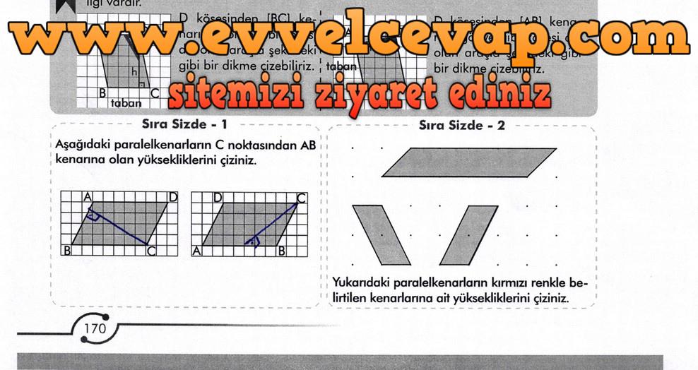 6. Sınıf Meb Yayınları Matematik Ders Kitabı Sayfa 170 Cevabı