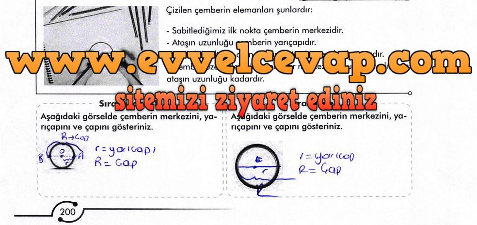 6. Sınıf Meb Yayınları Matematik Ders Kitabı Sayfa 200 Cevabı