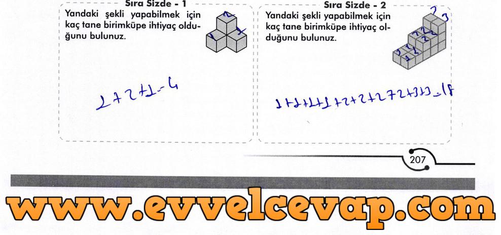 6. Sınıf Meb Yayınları Matematik Ders Kitabı Sayfa 207 Cevabı