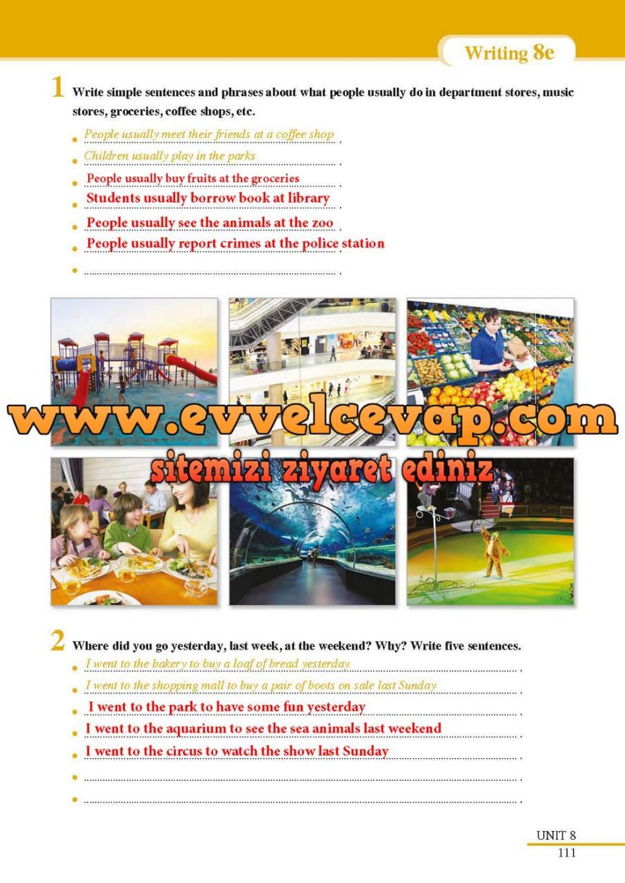 7 Sınıf Ingilizce Sdr Dikey Yayınları Ders Kitabı Cevapları Sayfa