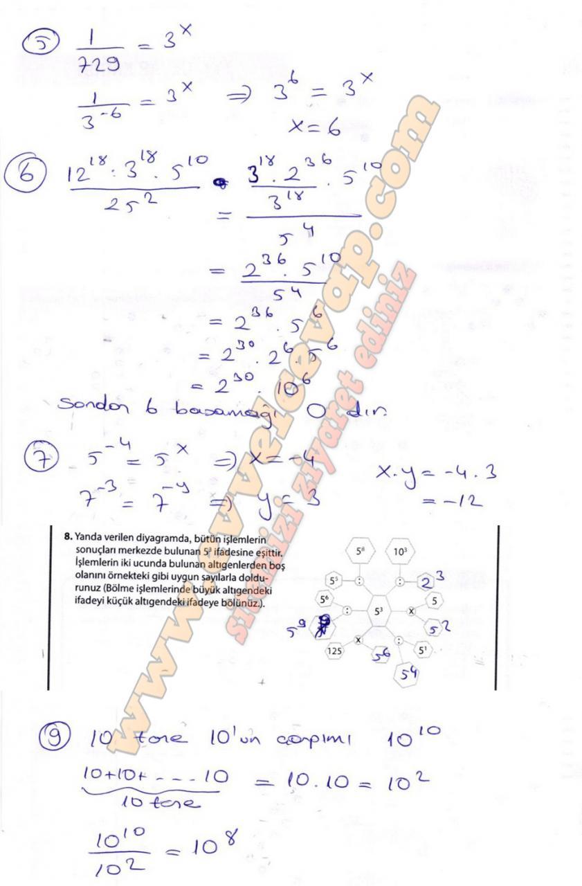 8. Sınıf Matematik Meb Yayınları Ders Kitabı Sayfa 42 Cevapları