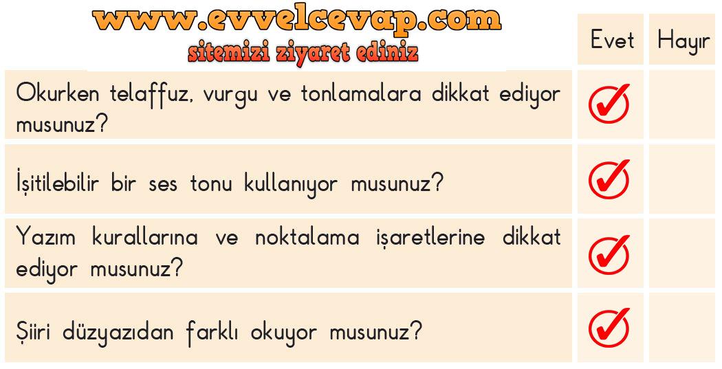 3. Sınıf Türkçe Ders Kitabı SDR Dikey Yayıncılık Sayfa 270 Cevabı