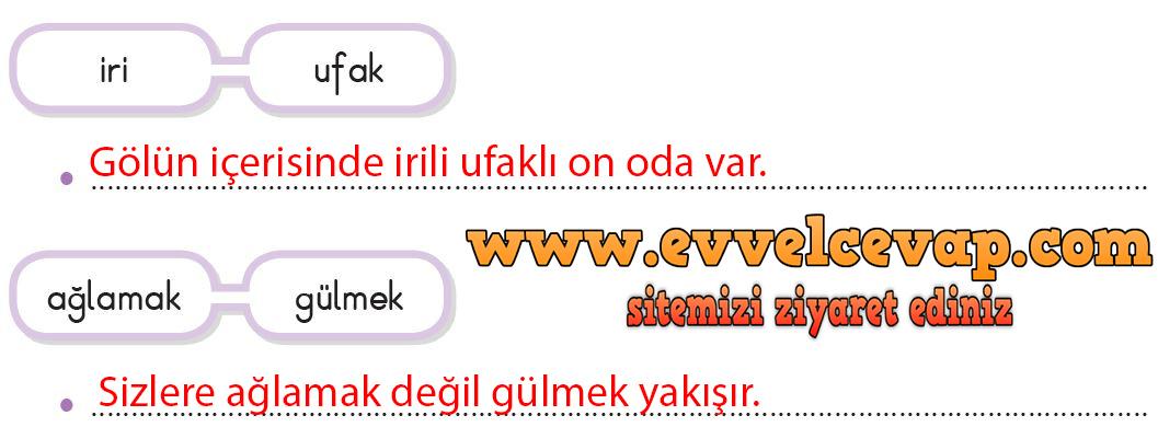3. Sınıf Türkçe Ders Kitabı SDR Dikey Yayıncılık Sayfa 271 Cevabı
