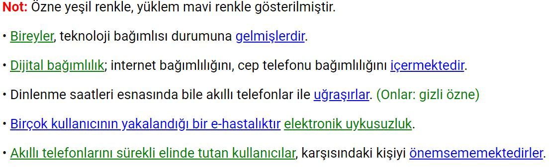 8. Sınıf Türkçe Ders Kitabı Meb Yayınları Sayfa 87 Cevabı
