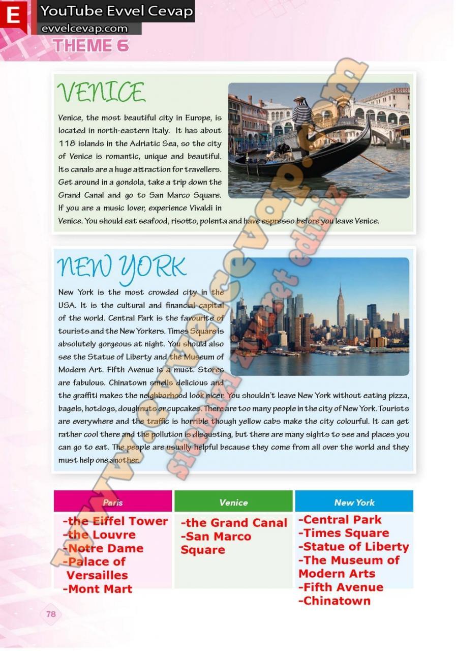 9. Sınıf İngilizce Pasifik Yayınları Ders Kitabı Cevapları Sayfa 78