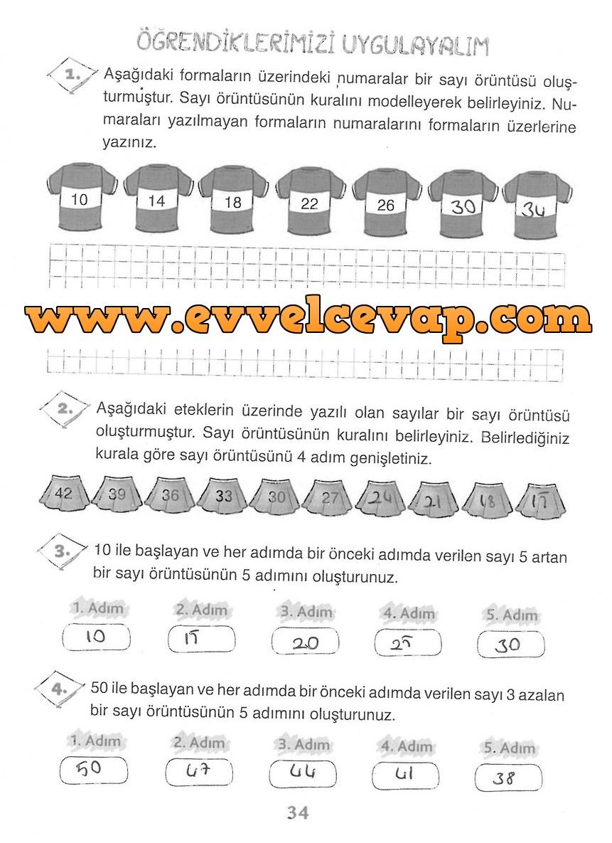 3 Sinif Matematik Ada Yayinlari Ders Kitabi Cevaplari Sayfa 34