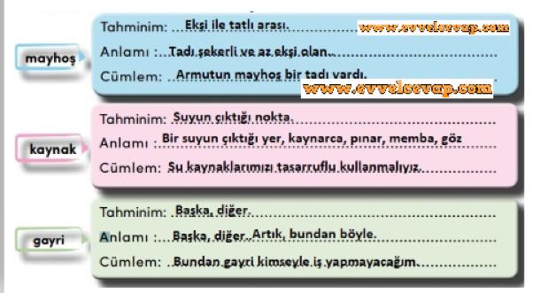 4 Sinif Turkce Meb Yayinlari Ders Kitabi Cevaplari Sayfa 151