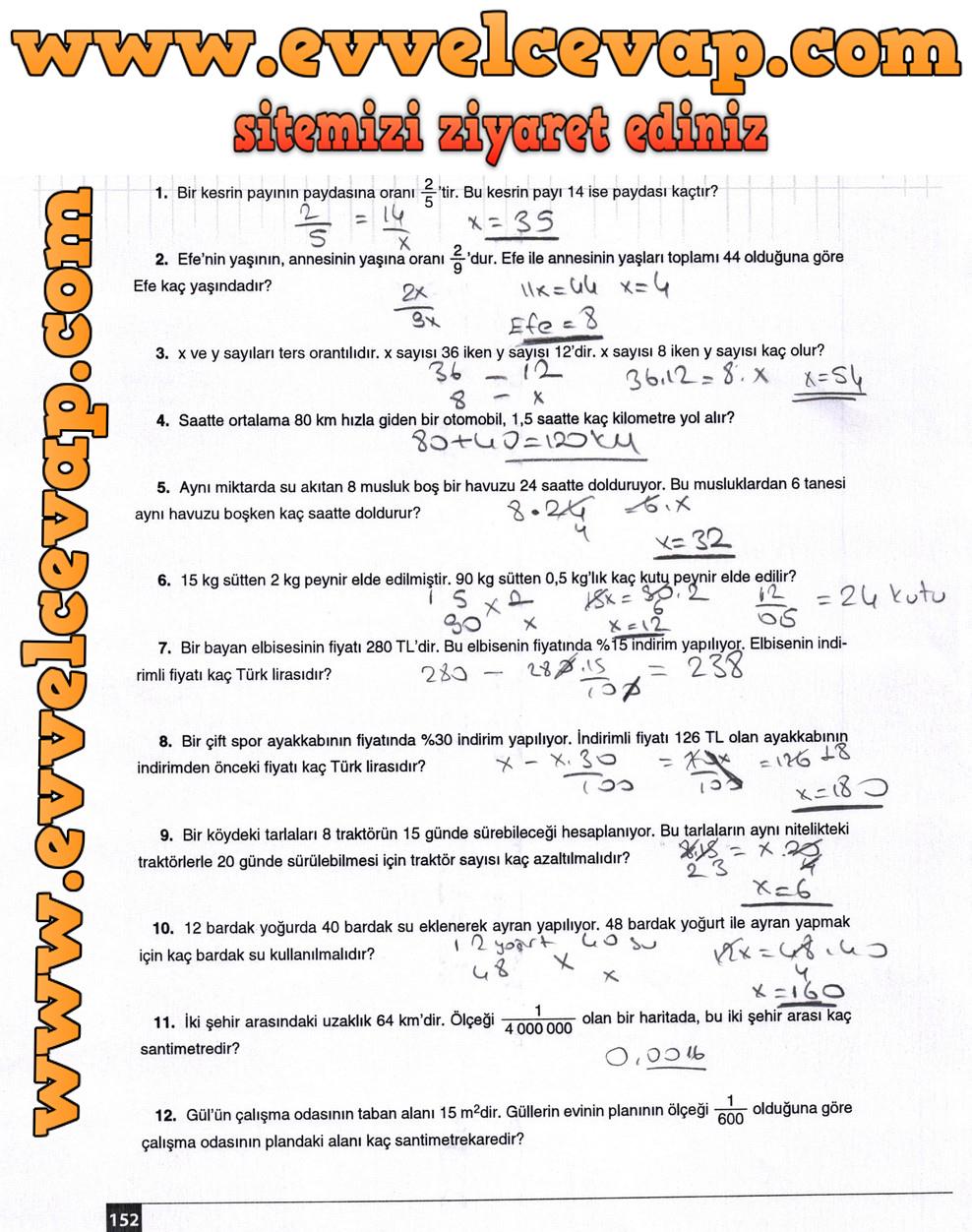 7 Sinif Matematik Ekoyay Yayinlari Ders Kitabi Cevaplari Sayfa