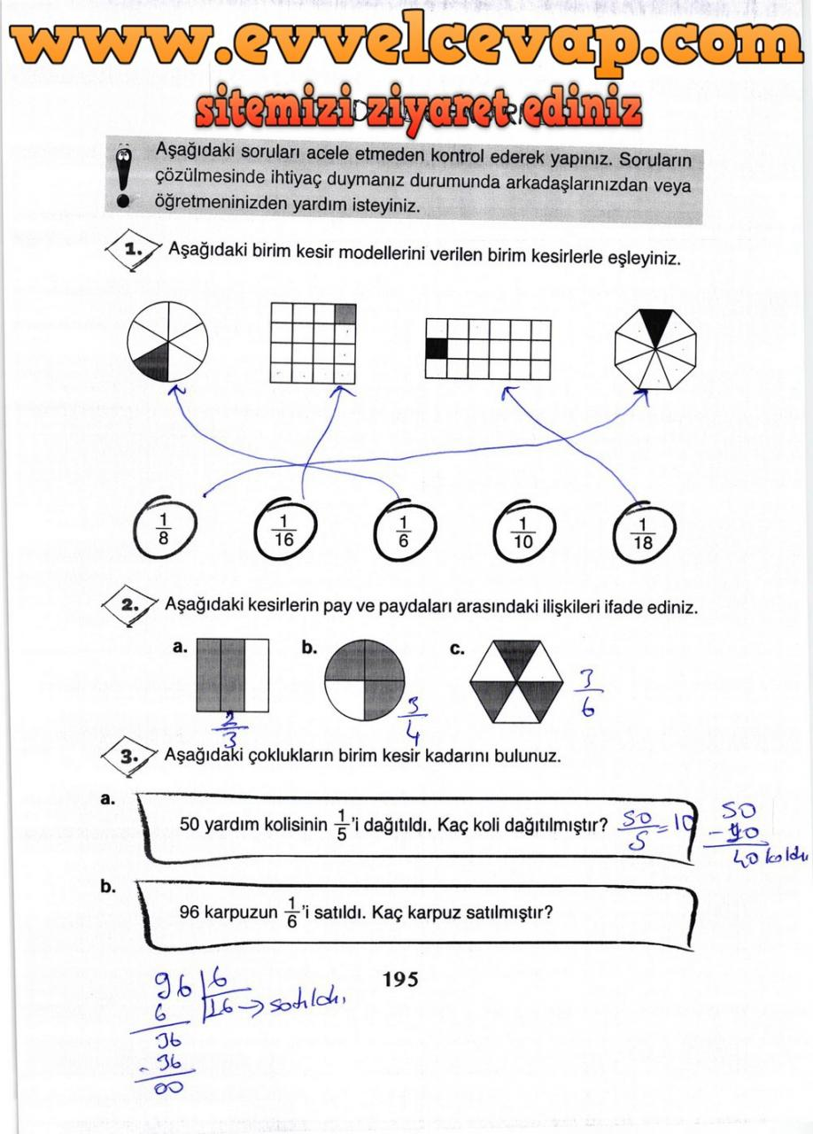 3 Sinif Matematik Ada Yayinlari Ders Kitabi Cevaplari Sayfa 195