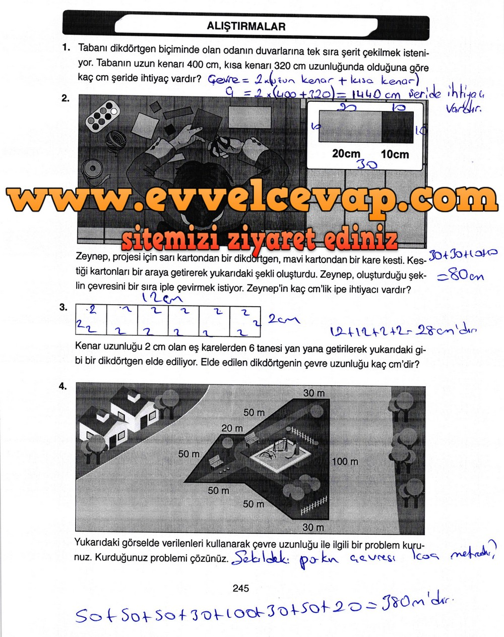 4 Sinif Matematik Ata Yayinlari Ders Kitabi Cevaplari Sayfa 245