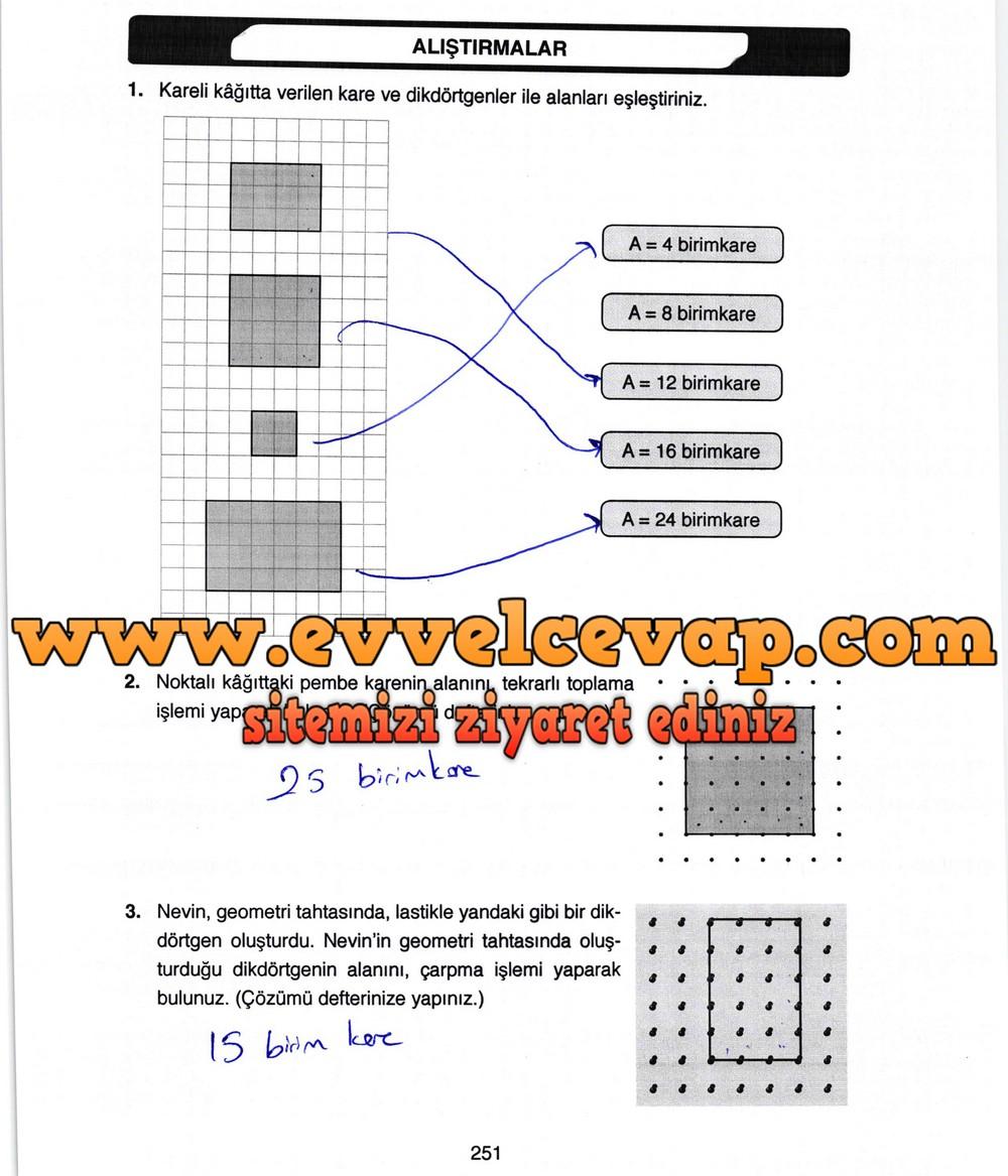 4 Sinif Matematik Ata Yayinlari Ders Kitabi Cevaplari Sayfa 251