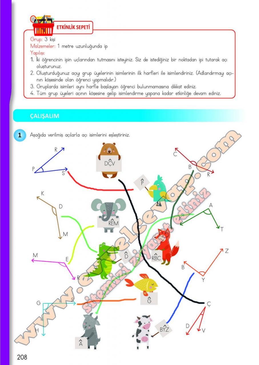 4 Sinif Matematik Meb Yayinlari Ders Kitabi Cevaplari Sayfa 208